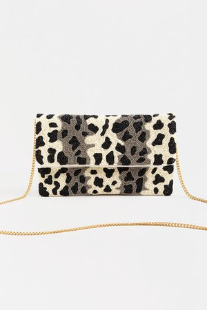 Viv Beaded Fold Over Clutch | francesca's