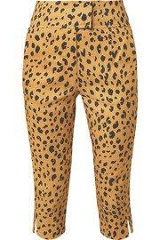 Nicholas | Button-detailed cropped leopard-print Tencel-blend top | NET-A-PORTER.COM