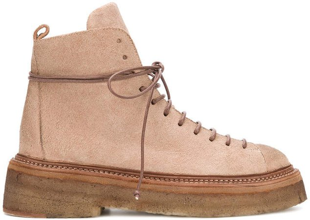 thick-sole combat boots