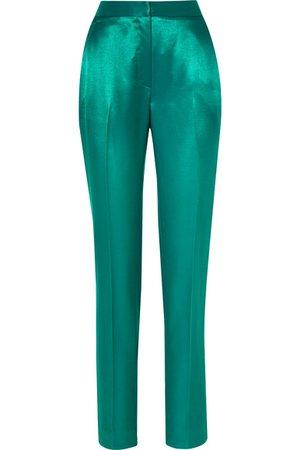 Carolina Herrera | Satin-twill straight-leg pants | NET-A-PORTER.COM