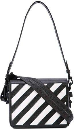 diagonal print shoulder bag