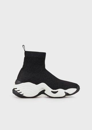 High-Top Sock Sneakers In Knit