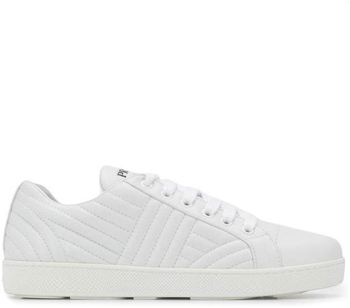 Matelassé leather quilted sneakers