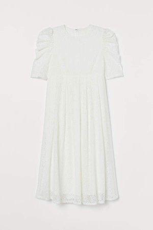 MAMA Lace Dress - White