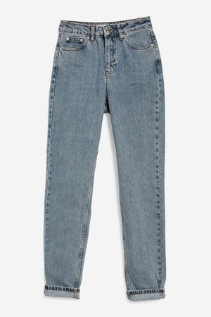 MOTO Grey Blue Mom Jeans - Jeans - Clothing - Topshop USA