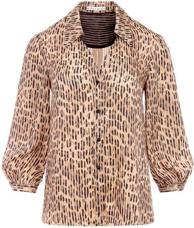 Sheila Leopard Henley Top