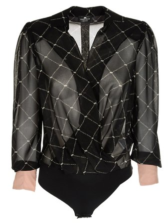Elisabetta Franchi For Celyn B. Open Front Blouse