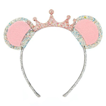 Claire's Club Glitter Mouse Ears Headband