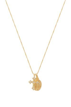Celeste Saint & Cross Necklace