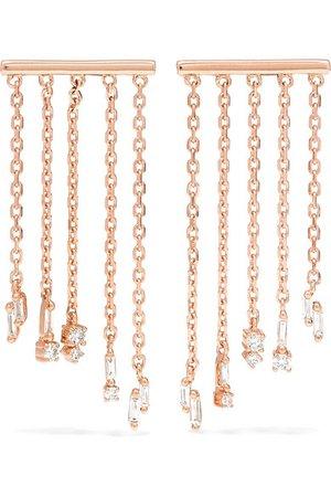 Suzanne Kalan | 18-karat rose gold diamond earrings | NET-A-PORTER.COM