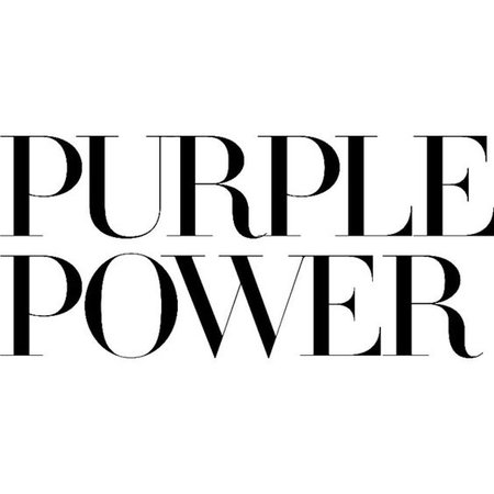 purple power text