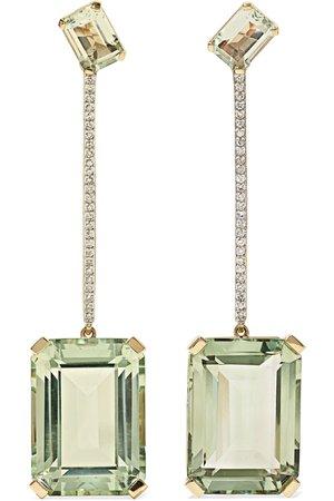 Gold 14-karat gold, amethyst and diamond earrings | Mateo | NET-A-PORTER