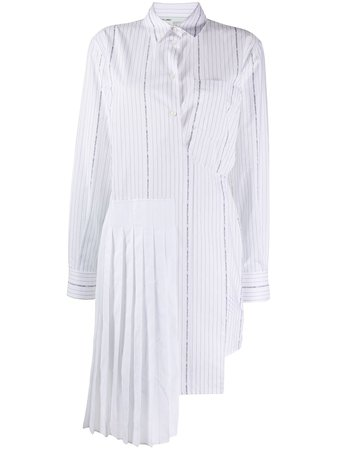 Off-White wrap-front Striped Shirt Dress - Farfetch