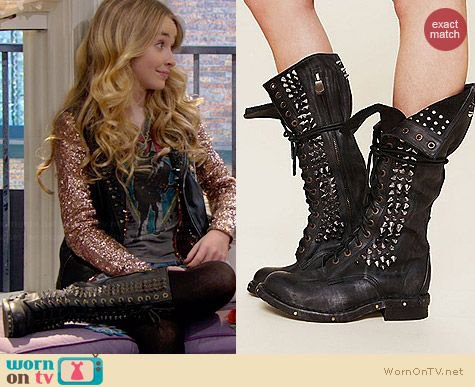 WornOnTV: Maya's AC/DC top, studded leather vest and studded lace-up boots on Girl Meets World | Sabrina Carpenter | Clothes and Wardrobe from TV