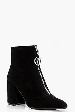 Tegan Oversized O-Ring Cylinder Heel Boots