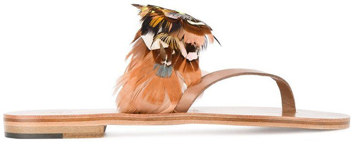 Multi Feather Alberta Sandals