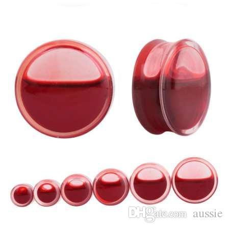 2020 SwanJo Red Liquid Blood Ear Gauges Acrylic Ear Plug Earrings Gauges Body Piercing Jewelry Piercing Mixes 9 Size Promotion From Aussie, $7.54 | DHgate.Com