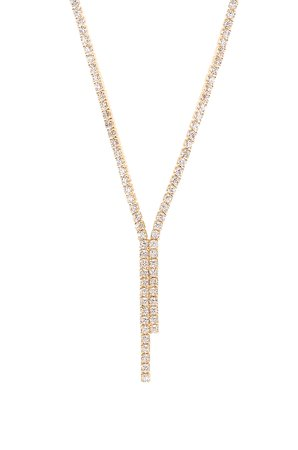 Diana Pave Lariat Necklace