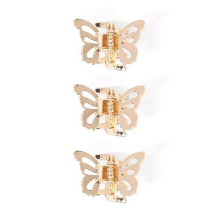 Accessories Gold Butterfly Clips 3-Pack by Crazy 8