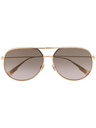 Shop gold Dior Eyewear Dior By Dior aviator sunglasses with Express Delivery - Farfetch