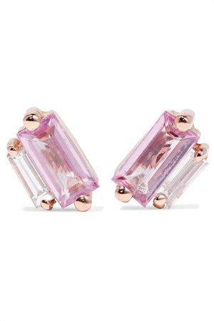 Suzanne Kalan   18-karat rose gold, sapphire and diamond earrings   NET-A-PORTER.COM