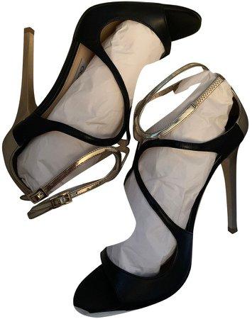Lance Black Leather Sandals