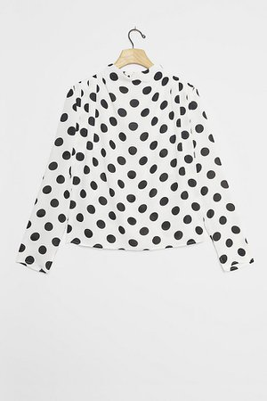 Polka Dot Blouse | Anthropologie