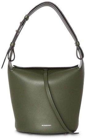 The Small Leather Bucket Bag