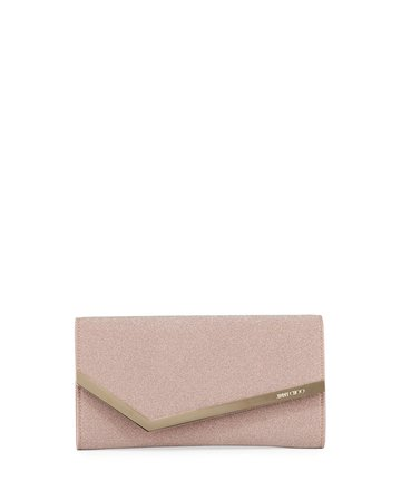 Jimmy Choo Emmie Fine Glitter Fabric Clutch Bag | Neiman Marcus