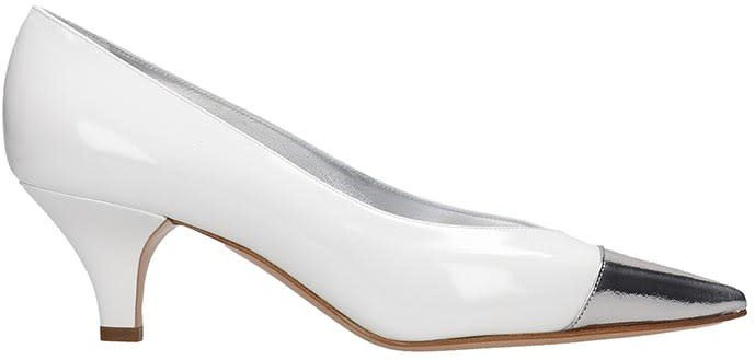 Pumps In White Patent Leather