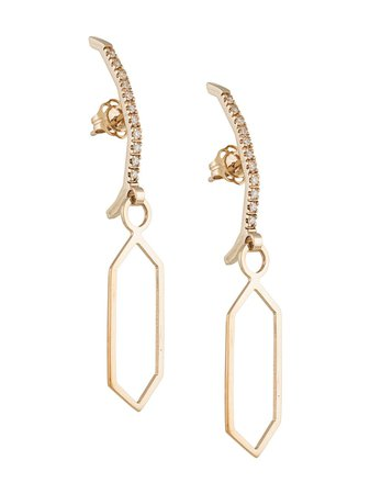 Shop gold Natasha Schweitzer Bowie drop earrings with Express Delivery - Farfetch
