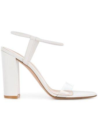 Gianvito Rossi Transparent Strap Sandals - Farfetch