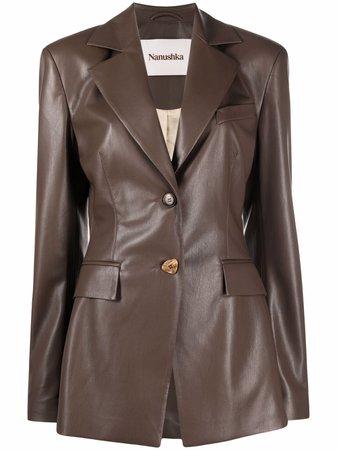 Nanushka Artificial Leather single-breasted Blazer - Farfetch