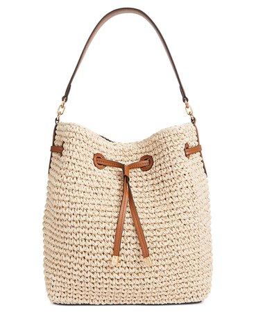 Lauren Ralph Lauren Crochet-Straw Debby Drawstring Bag & Reviews - Handbags & Accessories - Macy's