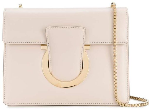 Gancini front flap shoulder bag
