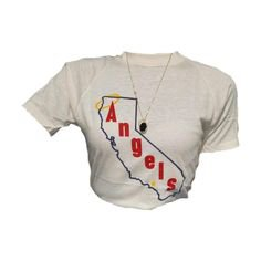 California los angelos angels white tshirt top polyvore png fillers