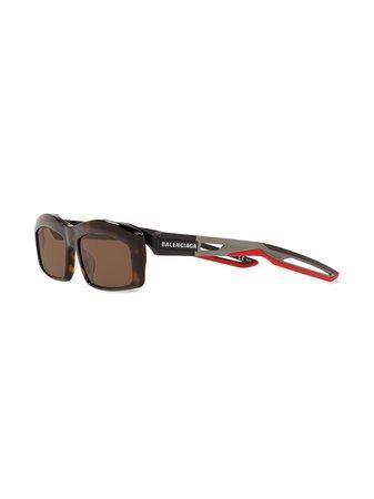 Balenciaga Eyewear Hybrid rectangle-frame Sunglasses - Farfetch