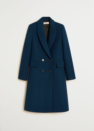 Double-breasted wool coat - Women | Mango USA