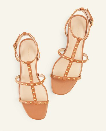 Belen Leather Gladiator Sandals | Ann Taylor