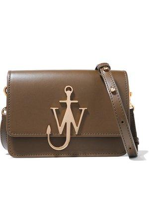 JW Anderson | Logo mini leather shoulder bag | NET-A-PORTER.COM