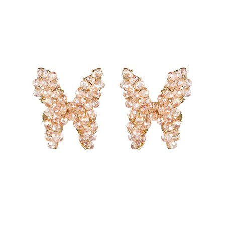 JESSICABUURMAN – KUMIU Crystal Butterfly Ear Studs Earrings - Pair