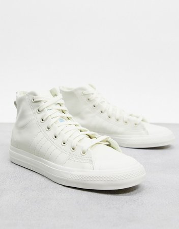 adidas Originals Nizza Hi-top sneaker in off white | ASOS