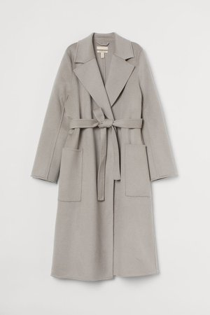 Wool Coat - Brown