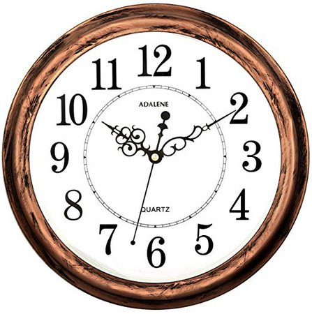 Adalene 13 Inch Large Non Ticking Silent Wall Clock Decorative, Battery Operated Quartz Analog Quiet Wall Clock, for Living Room, Kitchen, Bedroom: Home & Kitchen