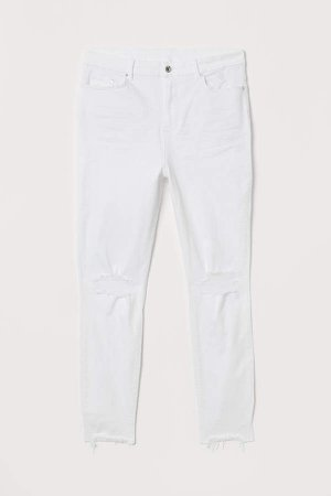 H&M+ Skinny High Ankle Jeans - White