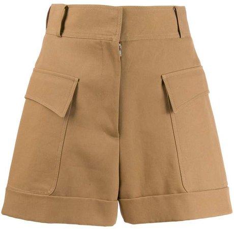 pocket detail high-waisted shorts
