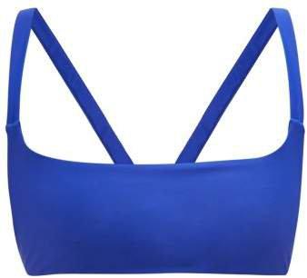 Revel Square Neck Bikini Top - Womens - Blue