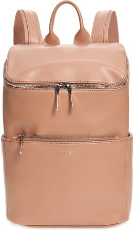 'Brave' Faux Leather Backpack