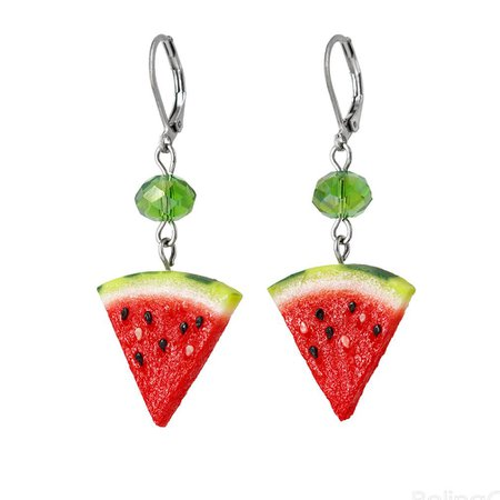 watermelon earrings - Google Search