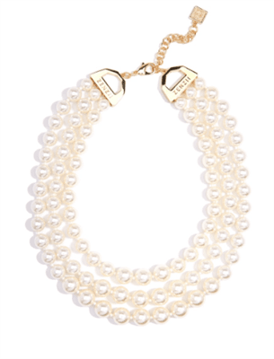 3 Strand Beaded Pearl Collar Necklace from Zenzii - 3 strand pearl necklace - 3 strand pearl necklace costume jewelry - multi strand pearl necklace - chunky multi strand pearl necklace - Safety Harbor Florida Boutique